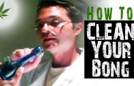 How to Clean Glass Bongs and Pipes Marijuana Tricks & Tips w/ Bogart #1