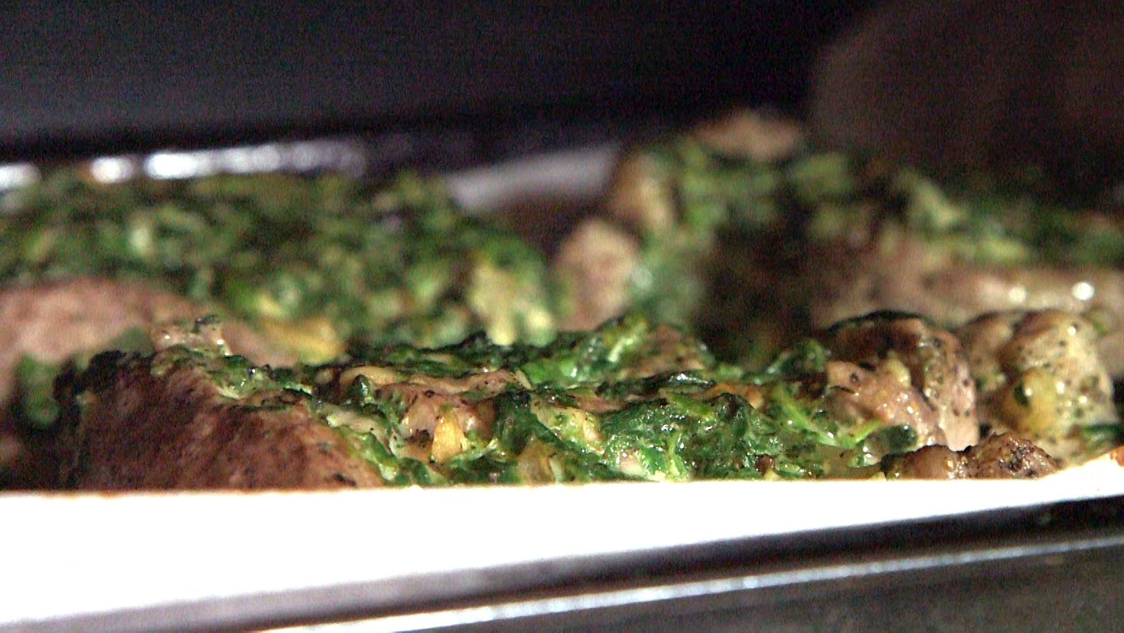 New Infused Eats recipe video: Beef Steak Pinwheels with Spinach Parmesan Cannabis Stuffing