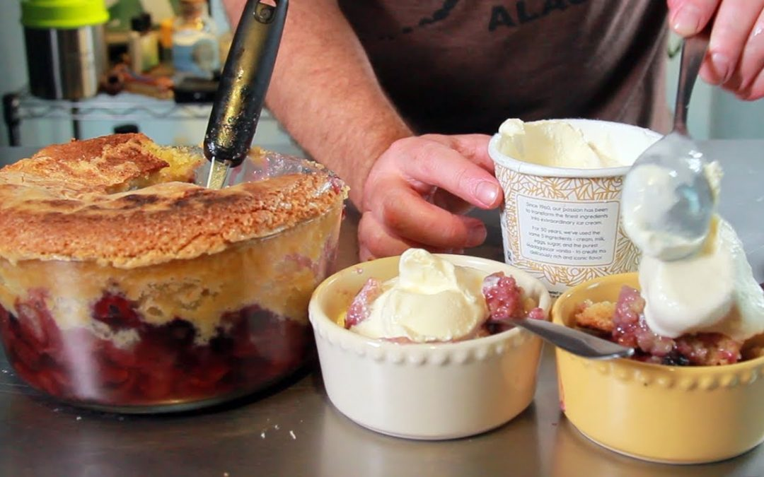 How To Make Red, White and Blueberry Cobbler (Cannabis 4th of July Dessert): Infused Eats #41