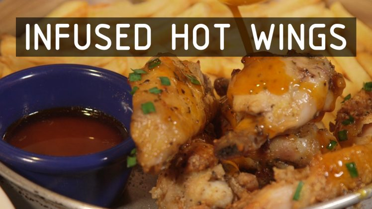 Baked Blue Cheese Hot Wings with Infused Buffalo Sauce Recipe